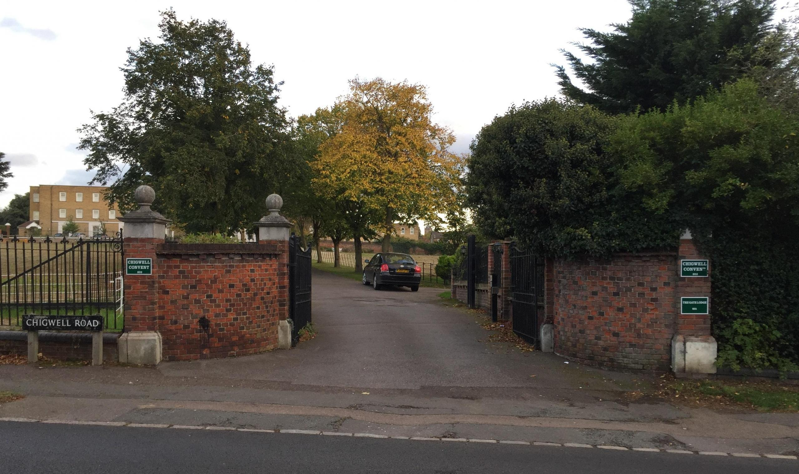 Gates to Chigwell Convent