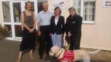 Dr Claire Guest,David Palmer,Betsy Duncan Smith,Claire and 'Magic'